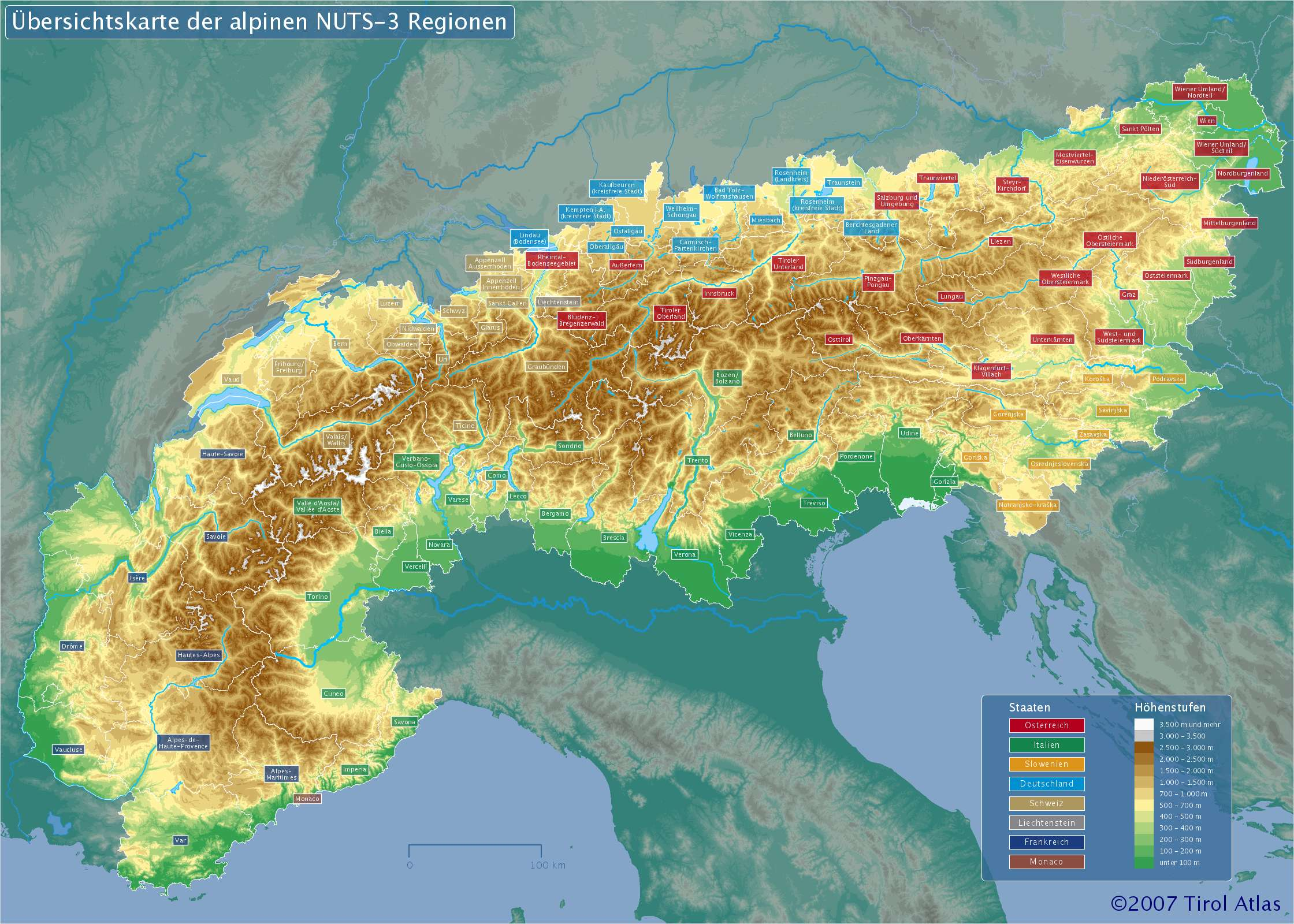 Tirol Atlas Alpenmodul