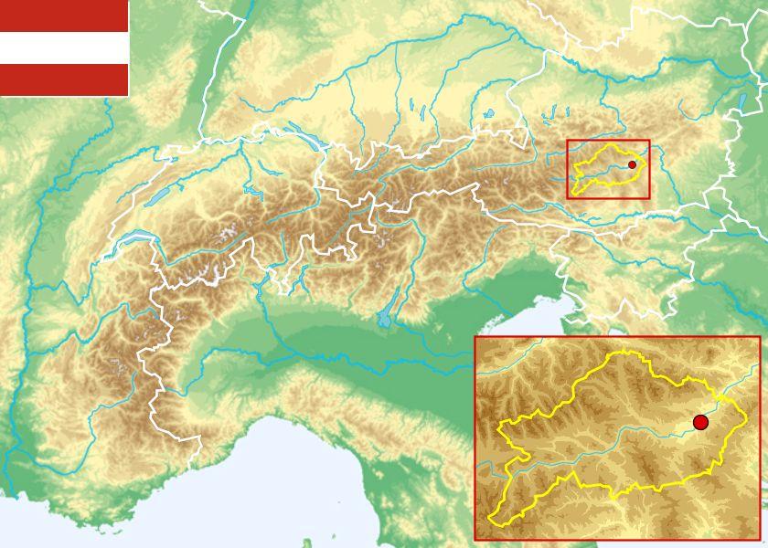 werfen österreich karte