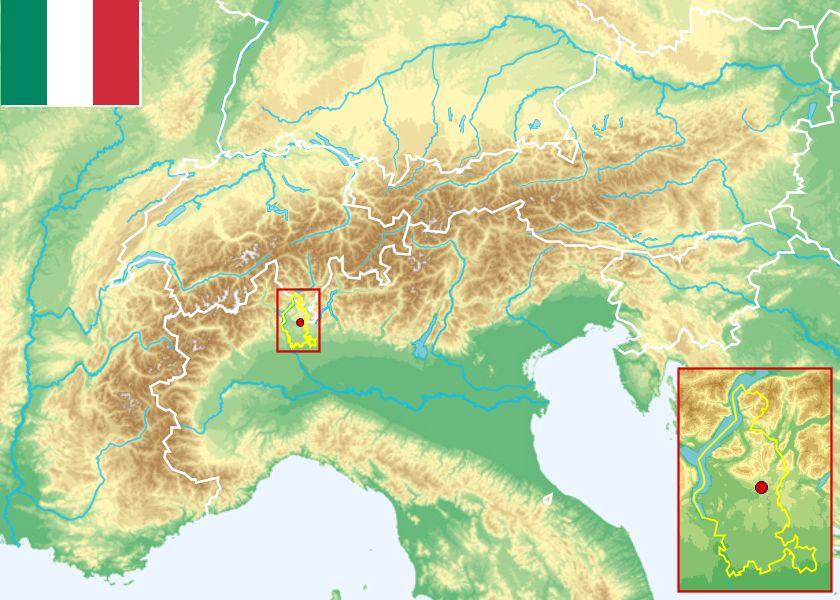 Varese Italien tirol atlas tirolexikon alpenmodul nuts 3 region varese