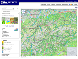 Karte Tirol.Topographische Karte Tirol Atlas